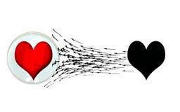 il cuore di attacco mantiene l'uomo illustrazione vettoriale