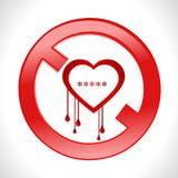 Il cuore di emorragia di scarico del virus dell'insetto del openssl del cuore ha limitato il vettore eps10 royalty illustrazione gratis