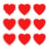 Il cuore ed il pizzo per il giorno o le nozze del ` s del biglietto di S. Valentino Fotografia Stock Libera da Diritti