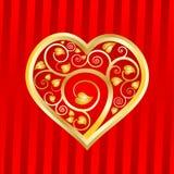 Il cuore in fogli modella senza giunte Immagini Stock