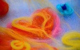Il cuore ha fatto il ‹del †del ‹del †di lana Immagine Stock