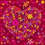 Il cuore ha modellato il burst del fiore illustrazione di stock