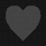 Il cuore ha modellato la progettazione dai cuori bianchi - grafico del fondo del modello di vettore Fotografia Stock
