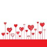Il cuore modella il fondo Fotografia Stock