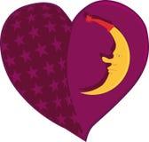 Il cuore ricamato Fotografie Stock Libere da Diritti