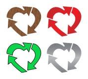 Il cuore ricicla illustrazione di stock