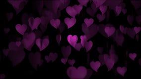 Il cuore rosa del biglietto di S. Valentino illustrazione vettoriale