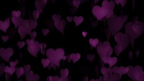 Il cuore rosa del biglietto di S. Valentino illustrazione di stock