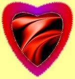 Il cuore rosso 3d variopinto di furia generato da computer avendo onda dell'illustrazione di clipart di amore ha acceso l'immagin fotografie stock