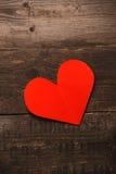 Il cuore rosso della carta Immagine Stock