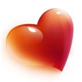 Il cuore rosso ha isolato Fotografia Stock Libera da Diritti