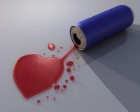 Il cuore rosso può Immagini Stock