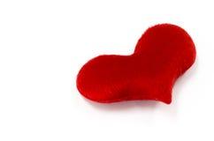 Il cuore rosso su fondo bianco, cuore ha modellato, il giorno di biglietti di S. Valentino Fotografia Stock Libera da Diritti
