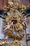 Il cuore sacro di Gesù ha circondato dagli angeli Immagine Stock Libera da Diritti
