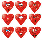 Il cuore sorride al giorno del `s del biglietto di S. Valentino Immagini Stock