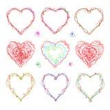 Il cuore tirato per giorno del ` s di giorno, del biglietto di S. Valentino del ` s della madre o nozze Immagini Stock Libere da Diritti