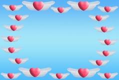 Il cuore traversa il blocco per grafici volando fotografia stock libera da diritti