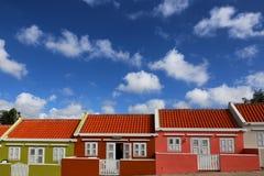 Il Curacao: Case colorate pastello Immagine Stock Libera da Diritti