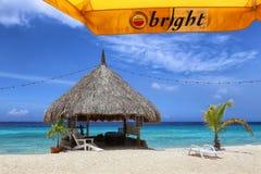 Il Curacao: Mare blu caraibico Immagini Stock Libere da Diritti