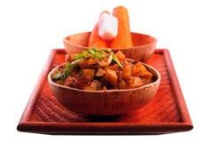 Il curry indiano della patata ha chiamato il subzi di aloo Fotografie Stock