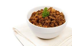 Il curry sudafricano tradizionale trita Immagini Stock Libere da Diritti