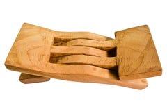 Il cuscino è fatto di legno Fotografie Stock Libere da Diritti