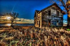 Il Dakota del Nord ha abbandonato le costruzioni fotografie stock