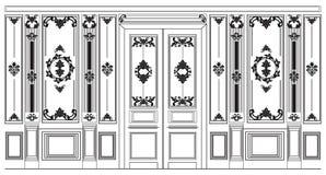 Il damasco decorativo ha ornato le strutture per le pareti o gli ambiti di provenienza Fotografia Stock Libera da Diritti