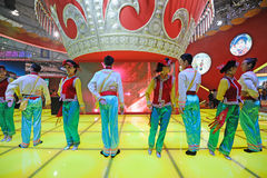 Il dancing cinese di Yi Fotografia Stock Libera da Diritti