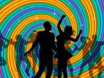 Il dancing della discoteca indica il ballerino Music And Discotheque Fotografie Stock