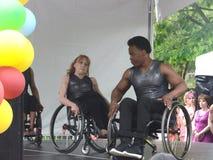 Il dancing spinge Perfromance, NYC, Tom Wurl Immagine Stock Libera da Diritti