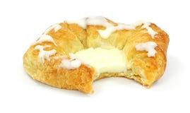 Il Danese del formaggio del morso Immagine Stock
