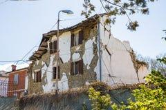 Il danno causato dal terremoto che ha colpito l'Italia centrale in 20 Immagine Stock