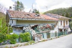 Il danno causato dal terremoto che ha colpito l'Italia centrale in 20 Immagine Stock Libera da Diritti