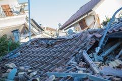 Il danno causato dal terremoto che ha colpito l'Italia centrale in 20 Fotografie Stock