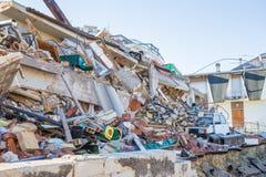 Il danno causato dal terremoto che ha colpito l'Italia centrale in 20 Fotografia Stock