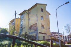 Il danno causato dal terremoto che ha colpito l'Italia centrale in 20 Immagini Stock Libere da Diritti