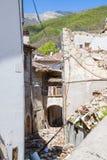 Il danno causato dal terremoto che ha colpito l'Italia centrale in 20 Fotografie Stock Libere da Diritti