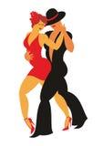 Il danse di tango Immagine Stock Libera da Diritti