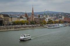 Il Danubio Budapest Fotografia Stock