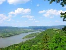 Il Danubio, panorama, vista superiore Immagine Stock Libera da Diritti