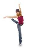 Il danzatore su una priorità bassa bianca Immagini Stock Libere da Diritti