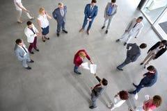 Il datore di lavoro presenta il rapporto Immagini Stock