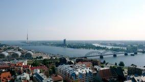 Il Daugava del fiume Fotografie Stock