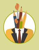  IL de Businessman_character_icons_with_penÑ Image libre de droits