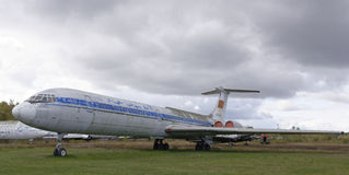 IL-62 de eerste Sovjet straalpassagiersvliegtuigen (1963) Stock Afbeeldingen