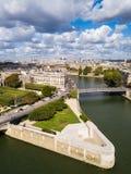 Il de l quadrato Ile de France del ` a Parigi fotografia stock libera da diritti