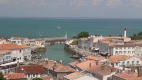 Il de Re harbor France Atlantic coast. DSLR Full HD progressive video 1080p stock footage