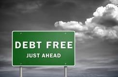 Il debito libera Immagini Stock