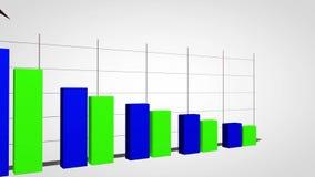 Il declino nella prestazione del grafico commerciale illustrazione vettoriale